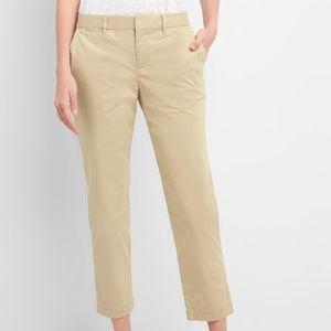 Gap Slim City Double Weave Crop Khaki Pants